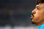 Olympique de Marseille's Brasilian midfielder Luiz Gustavo reacts during the French Championship Ligue 1 football match between Olympique de Marseille and AS Monaco on January 28, 2018 at the Orange Velodrome stadium in Marseille, France - Photo Benjamin Cremel / ProSportsImages / DPPI