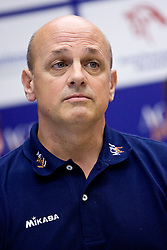 Coach Glenn Hoag at press conference of volleyball club ACH Volley before new season 2009/2010,  on September 28, 2009, in Ljubljana, Slovenia.  (Photo by Vid Ponikvar / Sportida)