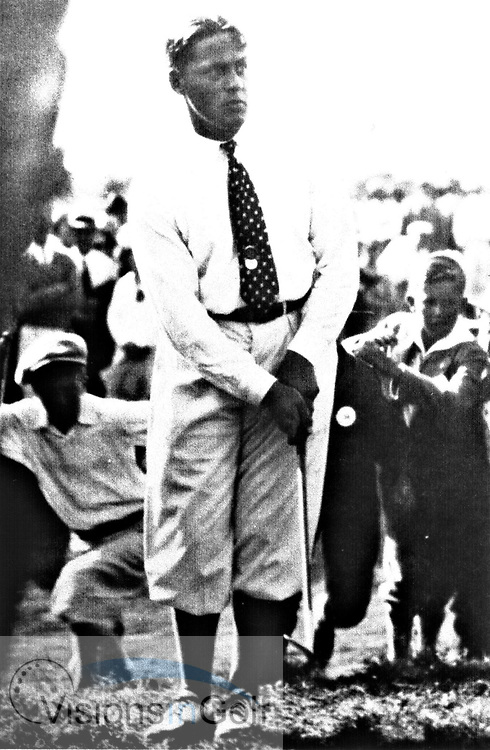 Bobby Jones at the 1926 USGA Open Championship<br /> Picture Credit: &copy;Visions In Golf / Hobbs Golf Collection