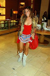 Designer MELISSA DEL BONO at a party hosted by Burberry to launch their special collection in aid of Breakthrough Breast Cancer, held at 21-23 New Bond Street, London W1 on 5th October 2004.<br /><br />NON EXCLUSIVE - WORLD RIGHTS