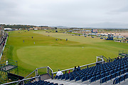 View looking over the 18th green of the Old Course, St Andrews, during the final round of the Alfred Dunhill Links Championships 2018 at West Sands, St Andrews, Scotland on 7 October 2018