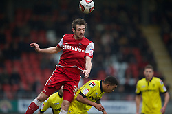 LONDON, ENGLAND - Saturday, February 9, 2013: Leyton Orient's Dave Mooney in action against Tranmere Rovers during the Football League One match at Brisbane Road. (Pic by David Rawcliffe/Propaganda)