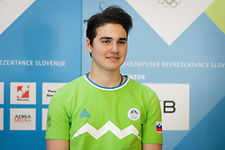 Maksimiljan Blazon during presentation of Team Slovenia at Lillehammer 2016 Winter Youth Olympic games, on February 4, 2016 on Bled, Slovenia. Photo by Ziga Zupan / Sportida
