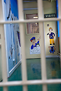 The corridor that visitors to the prison go down to enter the fmily visiting room. HMP Holloway, the main womens prison in London.