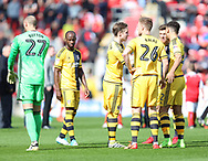Fulham players prior to the Sky Bet Championship match at the New York Stadium, Rotherham<br /> Picture by James Wilson/Focus Images Ltd 07709 548263<br /> 01/04/2017