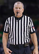SOUTH BEND, IN - JANUARY 12: NCAA referee Terry Wymer is seen during the Notre Dame Fighting Irish and Boston College Eagles game at Purcell Pavilion on January 12, 2019 in South Bend, Indiana. (Photo by Michael Hickey/Getty Images) *** Local Caption *** Terry Wymer