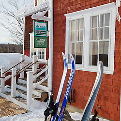 The Arthur D. Budd Visitor Center at the Notchview Reservation in Windsor, Massachusetts. Cross-country skiing center. The Trustees of Reservations.
