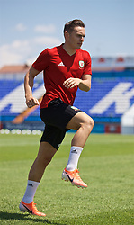 OSIJEK, CROATIA - Friday, June 7, 2019: Wales' Connor Roberts during a training session at Stadion Gradski vrt ahead of the UEFA Euro 2020 Qualifying Group E match against Croatia. (Pic by David Rawcliffe/Propaganda)