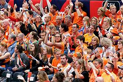 13-09-2019 NED: EC Volleyball 2019 Netherlands - Montenegro, Rotterdam<br /> First round group D Netherlands win 3-0 / support fan Orange