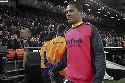 January 26, 2019 - Valencia, Spain - Carlos Bacca of Villarreal CF before  spanish La Liga match between Valencia CF vs Villarreal CF at Mestalla Stadium on Jaunary  26, 2019. (Credit Image: © Jose Miguel Fernandez/NurPhoto via ZUMA Press)
