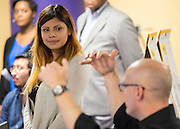 Houston ISD staff, students and architects participate in a design charrette Houston MSTC, April 24, 2015.