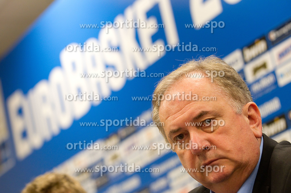 Bozidar Maljkovic, coach of Slovenia at press conference after the basketball match between National teams of Slovenia and Georgia in Group D of Preliminary Round of Eurobasket Lithuania 2011, on September 3, 2011, in Arena Svyturio, Klaipeda, Lithuania. Slovenia defeated Georgia 87-75. (Photo by Vid Ponikvar / Sportida)