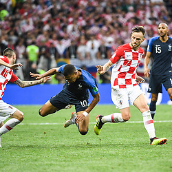 Kylian Mbappe of France during the World Cup Final match between France and Croatia at Luzhniki Stadium on July 15, 2018 in Moscow, Russia. (Photo by Anthony Dibon/Icon Sport)
