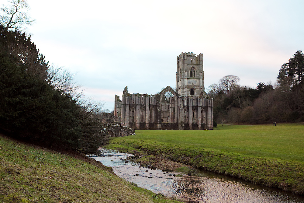 Fountain Abbey in North Yorkshire