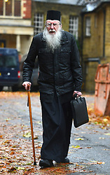 © Licensed to London News Pictures. 21/11/2012. westminster, UK A Scholary Orthodox Monk, acting as an observer, arriving at Church House in Westminster, London for day three of the three-day Church of England General Synod. Members last night voted against ordaining women as priests.. Photo credit : Stephen Simpson/LNP