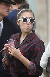 ©London News Pictures. 15/01/2011 .Picture Credit Should read Neil Hall/London News Pictures.Madonna directs her new period film W.E. starring Abbie Cornish about the abdication of King Edward in London on 08/08/2010 Pictured is her daughter Lourdes who visited the set