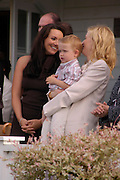Martine McCutcheon,  Cate Blanchett and her baby son Roman Upton. Cartier International Day at Guards Polo Club, Windsor Great Park. July 24, 2005. ONE TIME USE ONLY - DO NOT ARCHIVE  © Copyright Photograph by Dafydd Jones 66 Stockwell Park Rd. London SW9 0DA Tel 020 7733 0108 www.dafjones.com