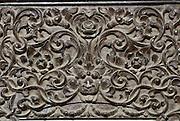Carved wood detail, home of Mr. Kannan Nagaipattinam.