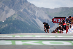 One final look over the shoulder for Elisa Longo Borghini on her way to third place at La Course 2017 - a 67.5 km road race, from Briancon to Izoard on July 20, 2017, in Hautes-Alpes, France. (Photo by Sean Robinson/Velofocus.com)