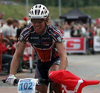 Sykkel , 20 August 2005 , Birkebeinerrittet ,<br /> UCI Mountain Bike Marathon , World Championships ,<br /> Lillehammer - Norway ,<br /> <br /> Thomas Frischknecht , CHE ble verdensmester for menn.