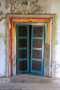 Painted door, Kovil, East Coast, south of Trinco, Muttur Area.