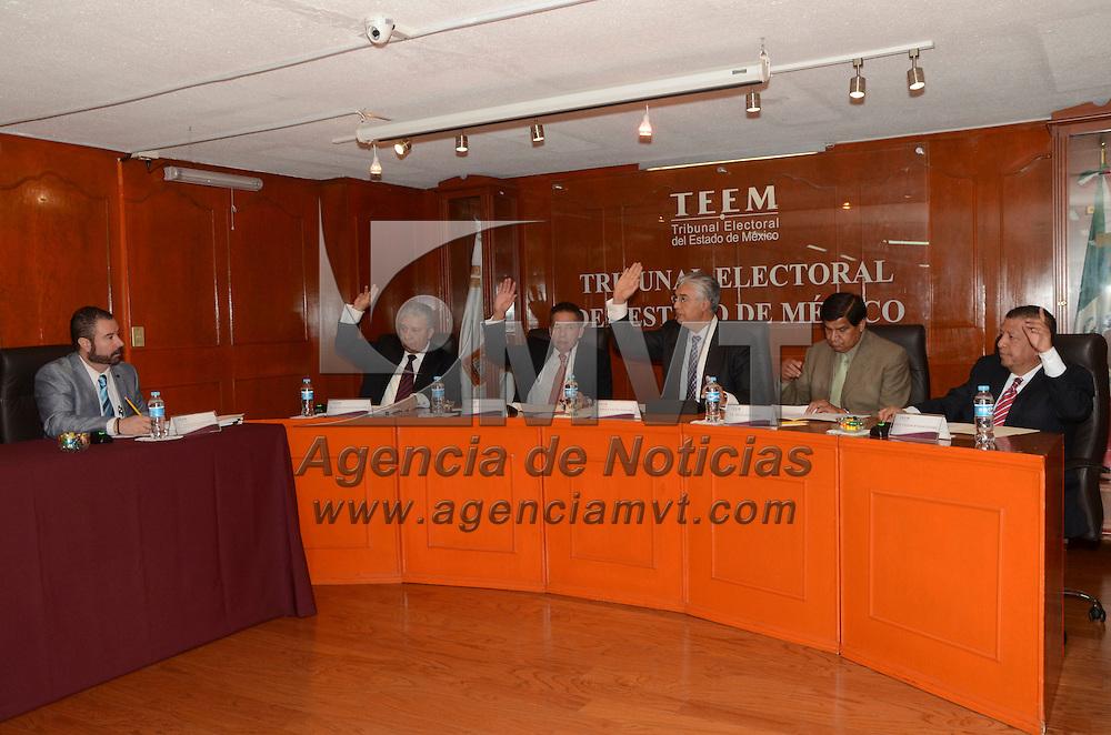 Toluca, México.- En sesión pública del Tribunal Electoral del Estado de México, se resolvieron un recurso de apelación y tres juicios para la protección de los derechos político-electorales del ciudadano.  Agencia MVT / José Hernández