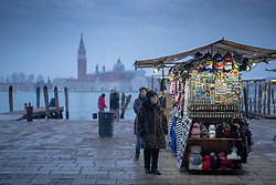 General views of street vendors in Venice. From a series of travel photos in Italy. Photo date: Sunday, February 10, 2019. Photo credit should read: Richard Gray/EMPICS
