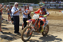 June 17, 2018 - Ottobiano, Lombardia, Italy - Antonio Cairoli of Red Bull KTM Factory Racing team wins the Fiat Professional MXGP of Lombardia race at Ottobiano Motorsport circuit on June 17, 2018 in Ottobiano (PV), Italy. (Credit Image: © Massimiliano Ferraro/NurPhoto via ZUMA Press)