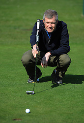 Willie Rennie, Cluny golf, 10-4-2016<br /> <br /> Willie visits Local outdoor activity centre Cluny Golf<br /> <br /> (c) David Wardle | Edinburgh Elite media