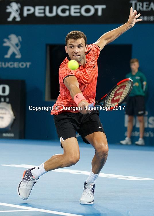 GRIGOR DIMITROV (BUL)<br /> <br /> Tennis - Brisbane International  2017 - ATP -  Pat Rafter Arena - Brisbane - QLD - Australia  - 8 January 2017. <br /> &copy; Juergen Hasenkopf