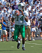 Marshall quarterback Bernard Morris drops back to pass against Kansas State at Bill Snyder Family Stadium in Manhattan, Kansas, September 16, 2006.  The Wildcats beat the Thundering Herd 23-7.