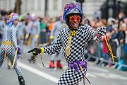 Skaters - The New Years Day parade passes through central London.