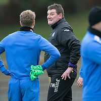 St Johnstone Training....13.12.13<br /> Manager Tommy Wright pictured in training this morning with David Wotherspoon<br /> Picture by Graeme Hart.<br /> Copyright Perthshire Picture Agency<br /> Tel: 01738 623350  Mobile: 07990 594431