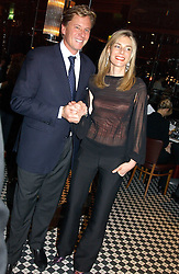 ROBERT & KIM HERSOV at a fund raising dinner hosted by Marco Pierre White and Frankie Dettori's in aid of Conservative Party's General Election Campaign Fund held at Frankie's No.3 Yeoman's Row,¾London SW3 on 17th January 2005.<br /><br />NON EXCLUSIVE - WORLD RIGHTS