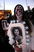 Participants in the All Souls Procession honor the deceased in Tucson, Arizona, USA.