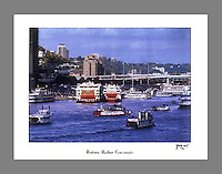 Signed and numbered 19x24 poster of Tall Stacks in Cincinnati, featuring numerous steamboats including the Delta Queen and the Mississippi Queen