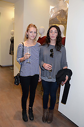 Left to right, DAVINA POWNALL and PHOEBE FORD at a preview evening of the Leon Max Autumn Winter Collection 2013 held at Leon Max, 229 Westbourne Grove, London W11 on 24th September 2013.