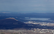 Mountainville, New York - A view from Schunnemunk Mountain looking northeast toward Newburgh and the Hudson River. The Newburgh Beacon Bridge is at the middle right of the frame. The cell tower on Snake Hill is at the left of the frame.