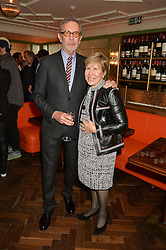 ARNE & MILLY GLIMCHER at a party hosted by Pace Gallery as part of Frieze 2015 held at 45 Jermyn Street, London on 15th October 2015.