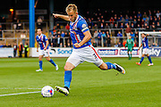 Carlisle United Defender Danny Grainger gets the shot away during the Sky Bet League 2 match between Carlisle United and Exeter City at Brunton Park, Carlisle, England on 17 October 2015. Photo by Craig McAllister.