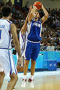 ATENE, 17 AGOSTO 2004<br /> OLIMPIADI ATENE 2004<br /> BASKET <br /> ITALIA - SERBIA E MONTENEGRO <br /> NELLA FOTO: GIACOMO GALANDA<br /> FOTO CIAMILLO