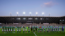 Teams before 1st Leg football match between NK Olimpija Ljubljana and HJK Helsinki in 3rd Qualifying Round of UEFA Europa League 2018/19, on August 9, 2018 in SRC Stozice, Ljubljana, Slovenia. Photo by Urban Urbanc / Sportida