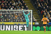 Willy Caballero (13) of Chelsea FC tips a shot over the goal during the The FA Cup match between Hull City and Chelsea at the KCOM Stadium, Kingston upon Hull, England on 25 January 2020.