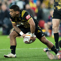 Te Toiroa Tahuriorangi during game 8 of the British and Irish Lions 2017 Tour of New Zealand,The match between  Hurricanes and British and Irish Lions, Westpac Stadium, Wellington, Tuesday 27th June 2017<br /> (Photo by Kevin Booth Steve Haag Sports)<br /> <br /> Images for social media must have consent from Steve Haag