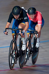 February 8, 2019 - Melbourne, VIC, U.S. - MELBOURNE, VIC - FEBRUARY 08: Georgia Baker of Australia in action at The Six Day Cycling Series on February 08, 2019 at Melbourne Arena, VIC. (Photo by Speed Media/Icon Sportswire) (Credit Image: © Speed Media/Icon SMI via ZUMA Press)
