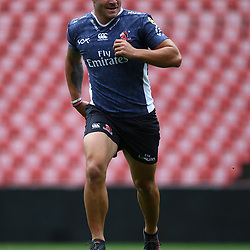 Malcolm Marx of the Emirates Lions during the Emirates Lions Captain Run at the Emirates Airlines Park, South Africa. 23 February 2018 (Photo by Steve Haag/UAR)