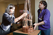 Willow Weaving workshop, one of the days activities run by Rodger Fowle & Rob Janko.