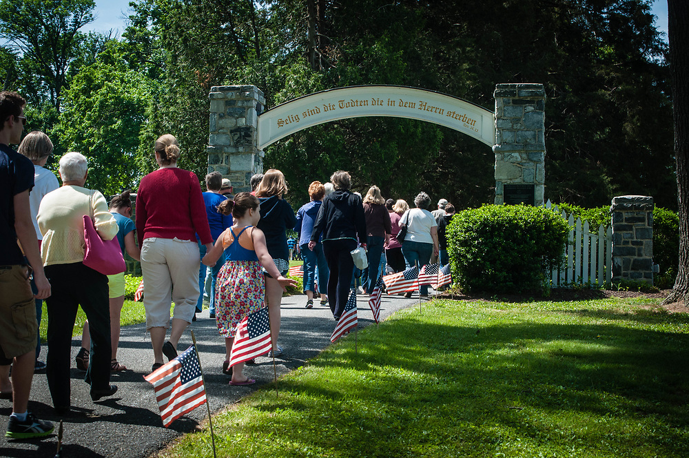 Memorial Day parade and cemetery presentation in Lititz, PA the official AMERICAS COOLEST SMALL TOWN.