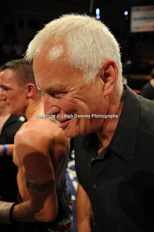 Barry Hearn (Promoter) on the 9th July 2010 at York Hall, Bethnal Green, London. Promoter: Matchroom Sport. Photo credit: © Leigh Dawney