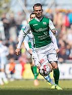 FODBOLD: Andreas Moos (Næstved) under kampen i NordicBet Ligaen mellem FC Helsingør og Næstved Boldklub den 12. maj 2019 på Helsingør Stadion. Foto: Claus Birch